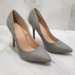 Wild Diva Lounge Grey Pointy-toe Pumps